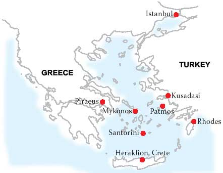 7 Day Cruise To Aegean Islands And Turkey Departure From Piraeus