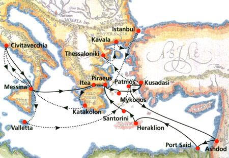 Cruises  10 days Footsteps Of St Paul Cruise Italy Malta