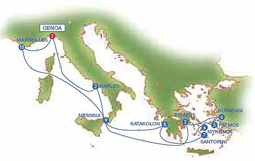 Map Of Italy Greece And Turkey.10 Days Mediterranean Cruise To France Italy Greece And Turkey With