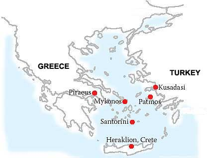 Greek Island Cruises From Athens August