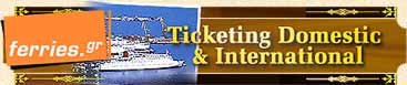 Greek ferries sea travel to Greece, Italy, Albania, Turkey, Cyprus, Israel and Greek islands. Superfast ferries, Minoan Lines, Anek Lines, Blue Star Ferries, Strintzis Lines, Poseidon Lines, Ventouris Ferries, Salamis Lines, Hellenic Mediterranean Lines, HML, G.A. Ferries, Lane Lines, NEL Lines, Hellenic Seaways, Hellas Flying Dolfhins, Aegean speed lines, Kallisti ferries, Saos, Sea jets, NEL Lines, LANE Lines, Anes Ferries, Alpha Ferries, Dodekanisos Lines, Strintzis Ferries, Euroseas Lines, Anen Lines, Ventouris Sea Lines,  Greek Ferries Info. Greece and Greek Islands Sea Travel Ferries / Boat / Ship Connections, Schedules, fares, prices, and on line booking system. Paleologos Shipping and Travel Enterprises. Hotels, Apartments, Car Rental, Cruises all over Greece
