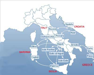 Map of Greek Islands Ferry Routes Snav Ferries Routes Map